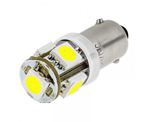 BA9s LED Bulb - 5 LED Tower