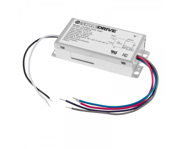 CCPSD series 25W Constant Current LED Driver - DiodeDrive® - 1050mA