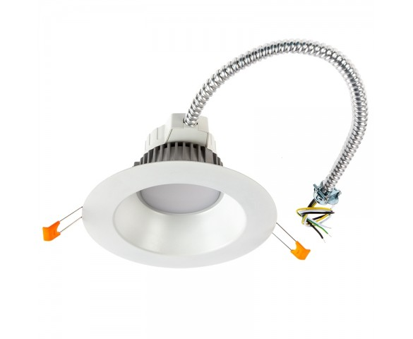 "6"" Commercial LED Downlight Retrofit - 18 Watt Recessed Light w/ Open Trim - 1,350 Lumens - 100 Watt Equivalent"