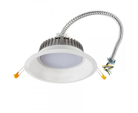 "8"" Commercial LED Downlight Retrofit - 18 Watt Recessed Light w/ Open Trim - 1,350 Lumens - 100 Watt Equivalent"