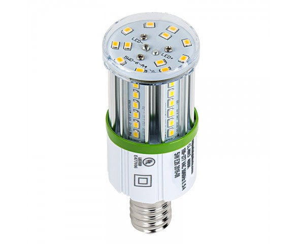 LED Corn Light - 50W Equivalent Incandescent Conversion - E26/E27 Base - 500 Lumens