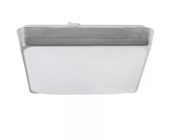 "11"" Square Flush Mount LED Ceiling Light w/ Metallic Housing - 100 Watt Equivalent - Dimmable - 1,500 Lumens"