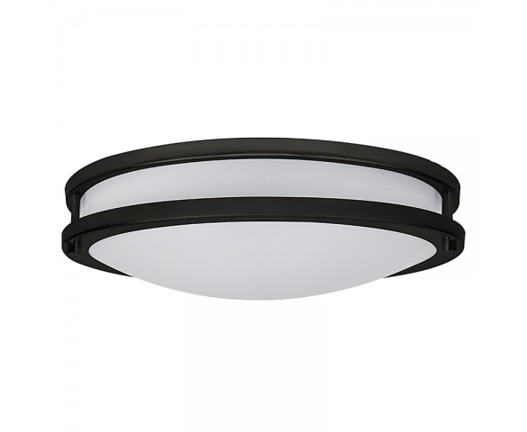 "16"" Flush Mount LED Ceiling Light w/ Brushed Nickel or Oil Rubbed Bronze Housing - 160 Watt Equivalent - Dimmable - 1,600 Lumens"