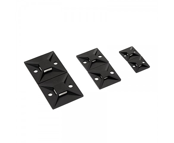 Screw and Adhesive Mount Base for Cable Tie