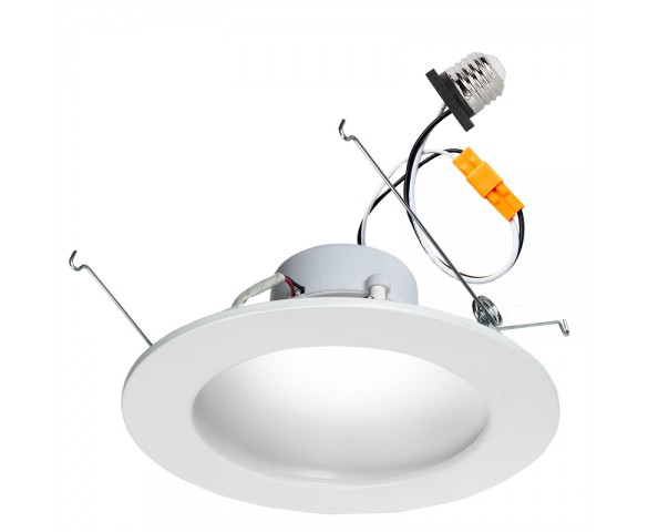 "LED Recessed Lighting Kit for 5"" to 6"" Cans - Retrofit LED Downlight w/ Indirect Light Trim - 75 Watt Equivalent - Dimmable - 900 Lumens"