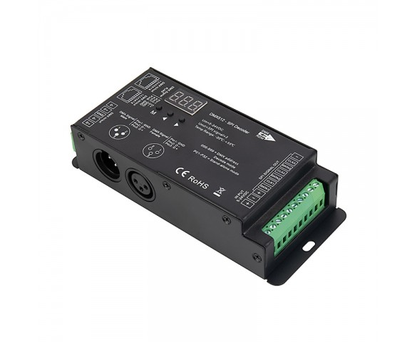 DMX512 to Digital Decoder - SPI Pixel Controller - 5-24 VDC