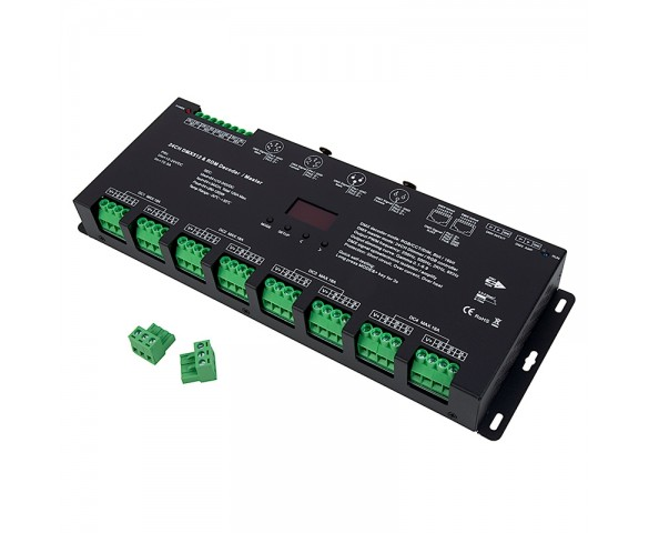 DS series 24 Channel DMX512 and RDM Decoder converts DMX and RDM signals to PWM for single color, CCT and/or RGB LED lighting products.