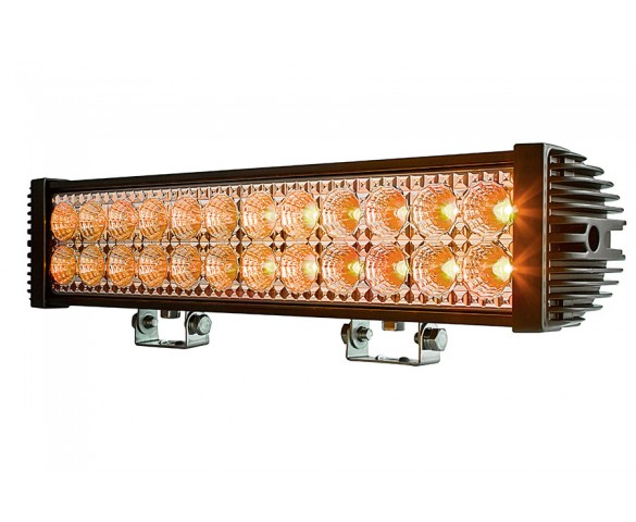 "18"" Dual Row Heavy Duty Off Road Amber LED Light Bar - 45W"