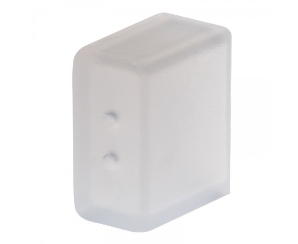 8mm Silicone End Cap - 2 Holes