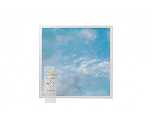 Tunable White LED Skylight w/ Summer Skylens® Diffuser - 2x2 Dimmable LED Panel Light - Drop Ceiling