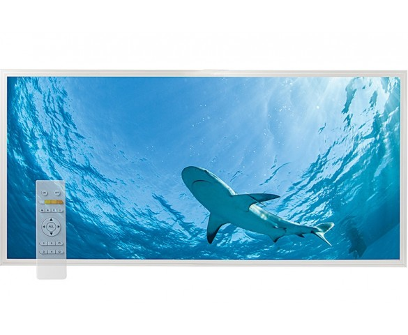 Tunable White LED Skylight w/ Lone Shark Skylens® Diffuser - 2x4 Dimmable LED Panel Light - Drop Ceiling
