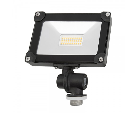 10 Watt Knuckle-Mount LED Flood Light - 4000K - 75 Watt Incandescent Equivalent - 1,100 Lumens