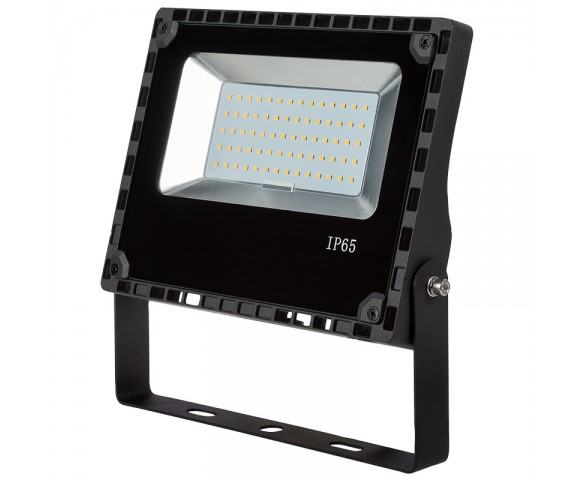 50 Watt LED Flood Light Fixture - 4000K - 100 Watt MH Equivalent - 6,000 Lumens