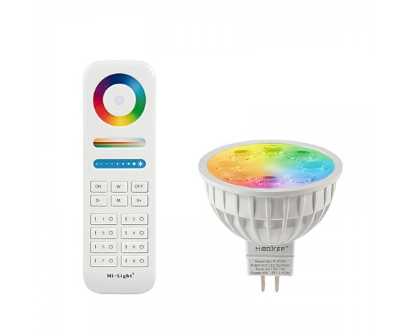 MR16 MiLight RGB+Tunable White LED Bulb - 4-Watt (35-Watt Equivalent) - 280 Lumens - RF Remote Optional