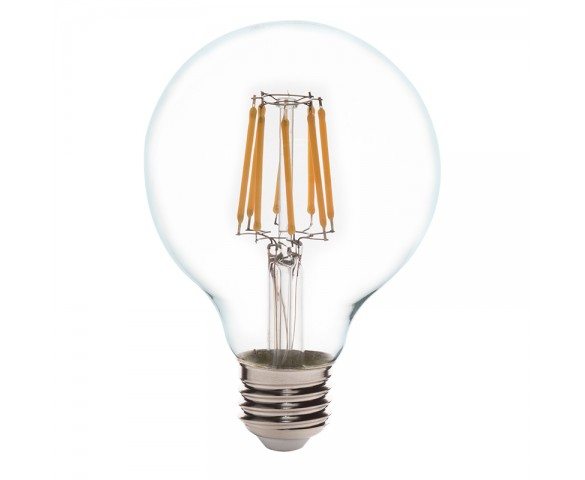 G25 LED Filament Bulb - 65 Watt Equivalent LED Vintage Light Bulb - Dimmable - 650 Lumens