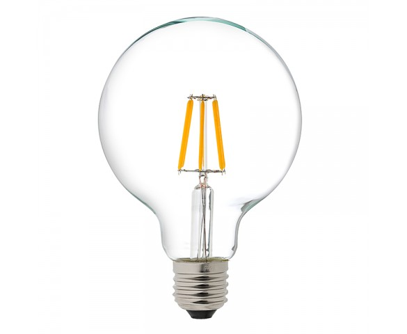 LED Filament Bulb - G30 LED Bulb with 5 Watt Filament LED - Dimmable