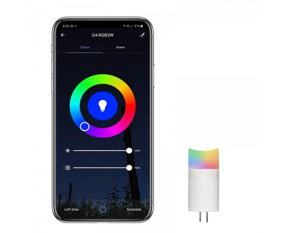 G4 LED Smart Bi Pin Bulb - RGB Color Changing - Smartphone Compatible