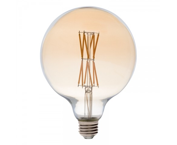 G40 LED Filament Bulb - Gold Tint Vintage Light Bulb - 65 Watt Equivalent - Dimmable - 650 Lumens