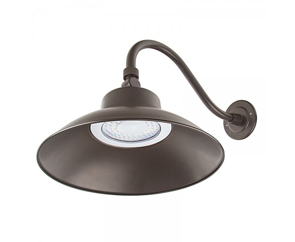 LED Gooseneck Barn Light - 42W - 4000K/3000K - 3,700 Lumens