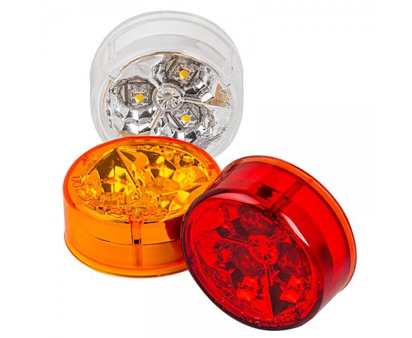 M5-HB series High Brightness 2in Round LED Marker Lamp: Available In Red, Amber & Whtite