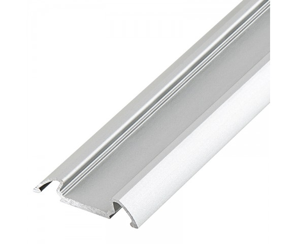 Klus B4369ANODA - STOS-ALU series Angled Surface Mount Aluminum LED Profile Housing