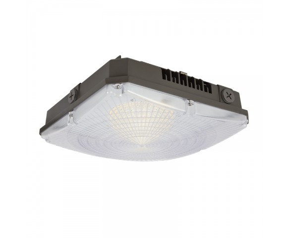 40W LED Canopy Light - 4,800 Lumens - 100W Metal Halide Equivalent - 5000K