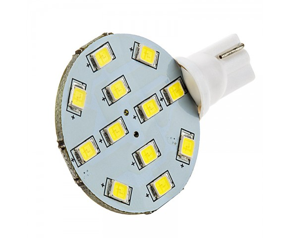 921 LED Bulb - 12 SMD LED Disc - Miniature Wedge Retrofit