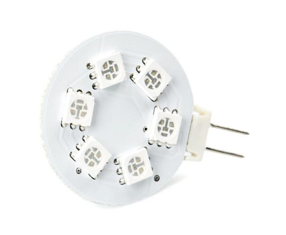Color-Changing G4 LED Bulb - 6 SMD LED - Bi-Pin LED Disc