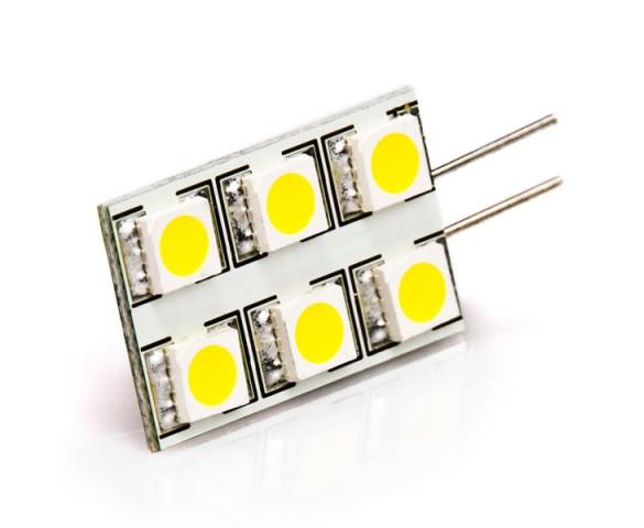 G4 LED Bulb - 6 SMD LED - Bi-Pin LED Rectangular Bulb