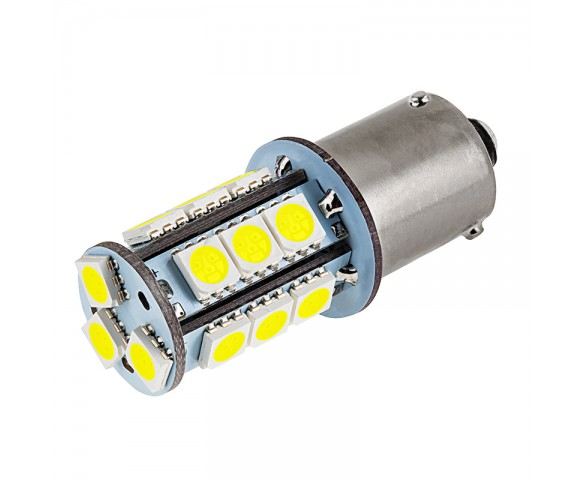 7507 (PY21W) LED Bulb - 18 SMD LED Tower - BAU15S Retrofit