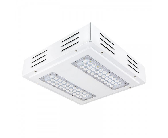 LED Canopy Lights - 60W - Natural White - Flush Mount or Surface Mount - Square Beam Angle