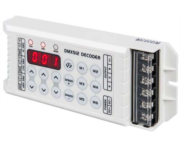 DMX Decoder for LED DMX Controllers with Address Digital Display - 3 Channel, 8A