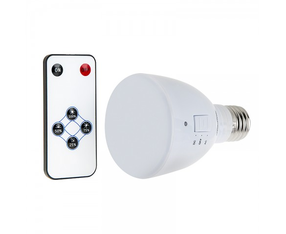 LED Emergency Light Bulb for Power Outages with Remote and Internal Rechargeable Battery