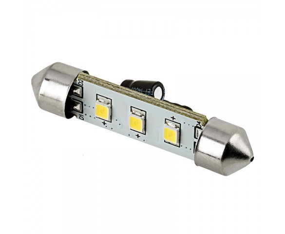6451 LED Bulb - 3 SMD LED Festoon - 42mm