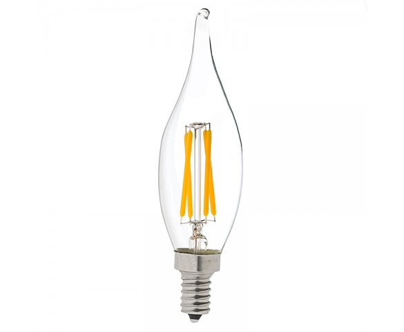 LED Vintage Light Bulb - CA10 Candelabra LED Bulb w/ Filament LED - Dimmable