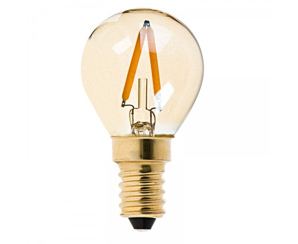 LED Filament Bulb - Gold Tint E14 LED Bulb with 1 Watt Filament LED - Dimmable