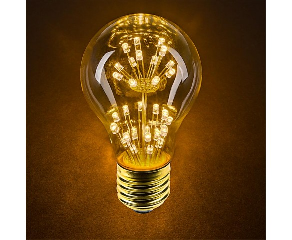 LED Fireworks Bulb - A19 Decorative Fireworks LED Bulb - Dimmable