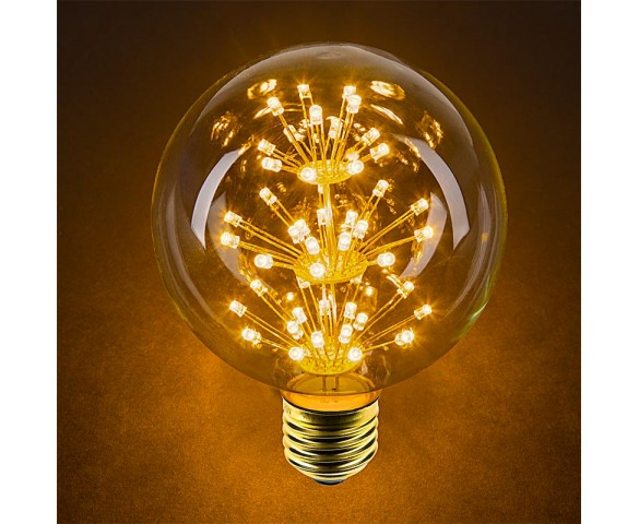 LED Fireworks Bulb - G30 Decorative Fireworks LED Bulb - Dimmable