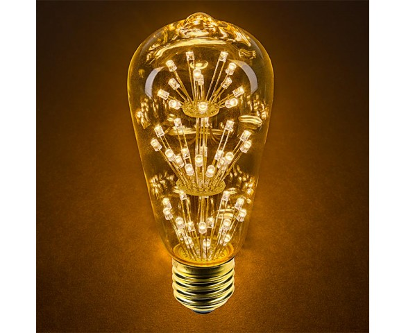 LED Fireworks Bulb - ST18 Decorative Fireworks LED Bulb - Dimmable