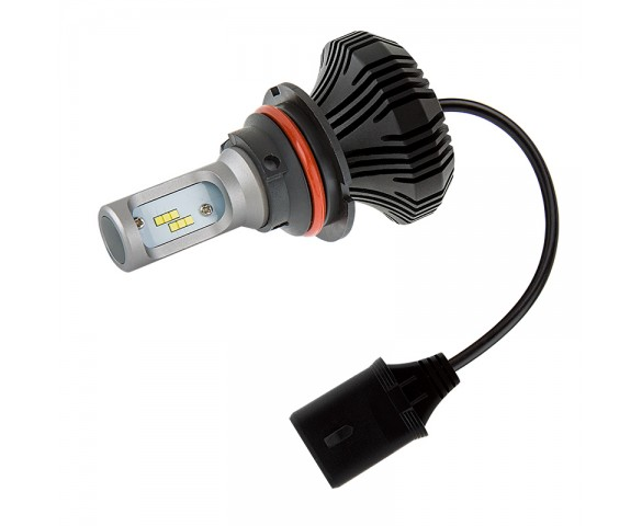 Motorcycle LED Headlight Conversion Kit - 9007 LED Fanless Headlight Conversion Kit with Compact Heat Sink