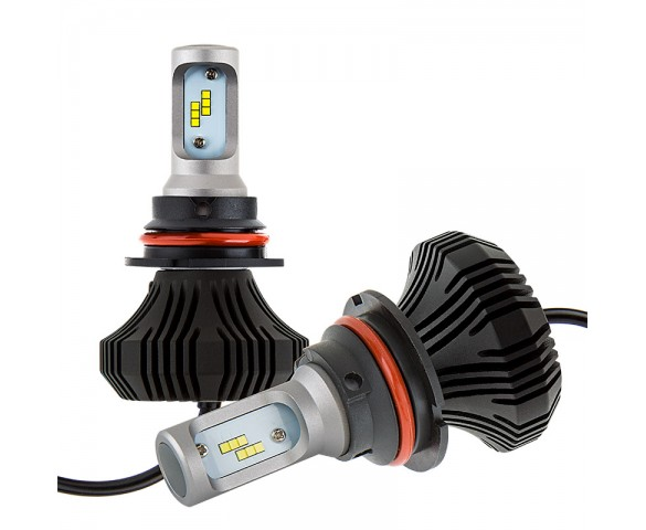 LED Headlight Kit - 9007 LED Fanless Headlight Conversion Kit with Compact Heat Sink