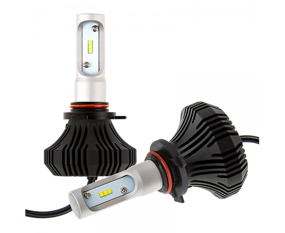 LED Headlight Kit - 9012 LED Fanless Headlight Conversion Kit with Compact Heat Sink