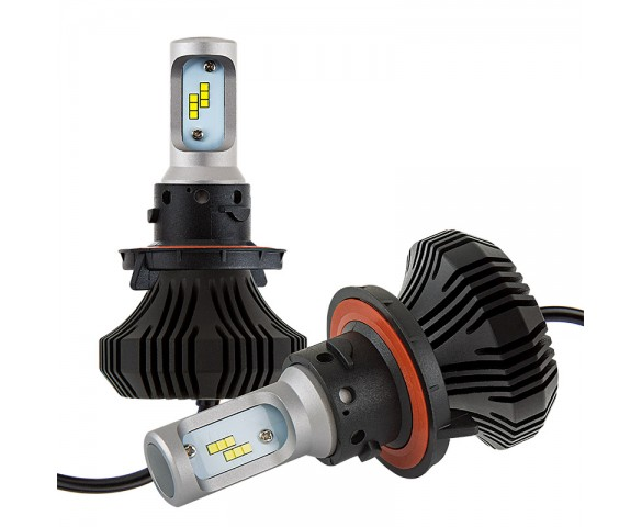 LED Headlight Kit - H13 LED Fanless Headlight Conversion Kit with Compact Heat Sink