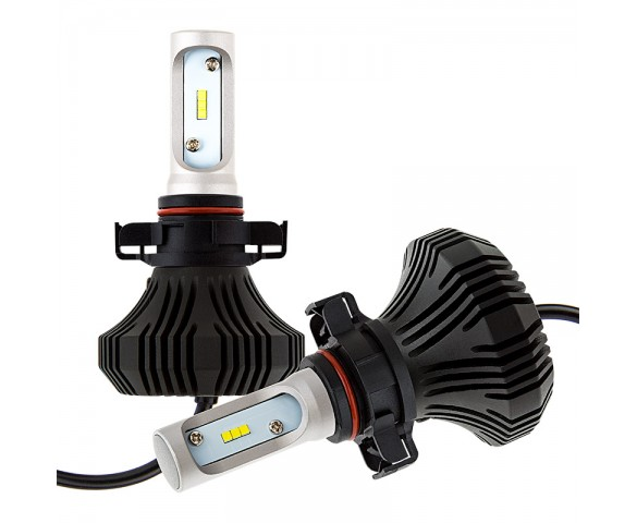 LED Headlight Kit - H16 LED Fanless Headlight Conversion Kit with Compact Heat Sink
