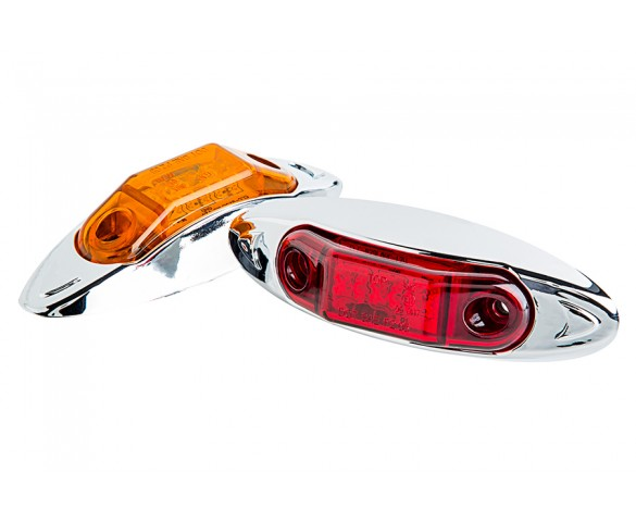 MMOC-x3HB series High Brightness Mini Oval Clearance Lamp: Available In Red & Amber