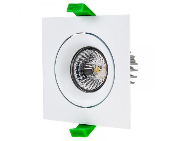 LED Recessed Light Engine - Square 90mm Gimbal Trim - 8 Watt COB LED