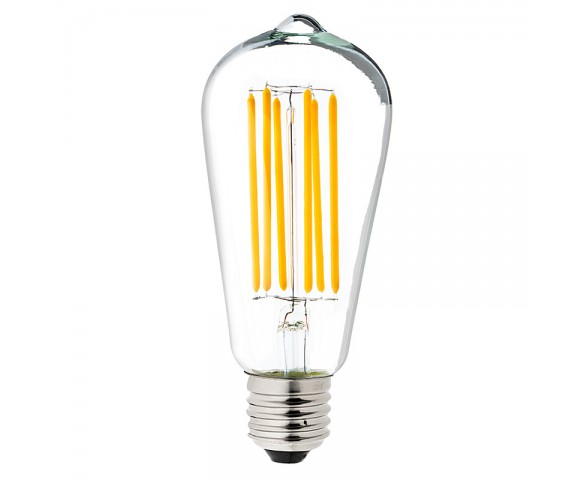 LED Vintage Light Bulb - ST18 Shape - Edison Style Antique Bulb with Filament LED