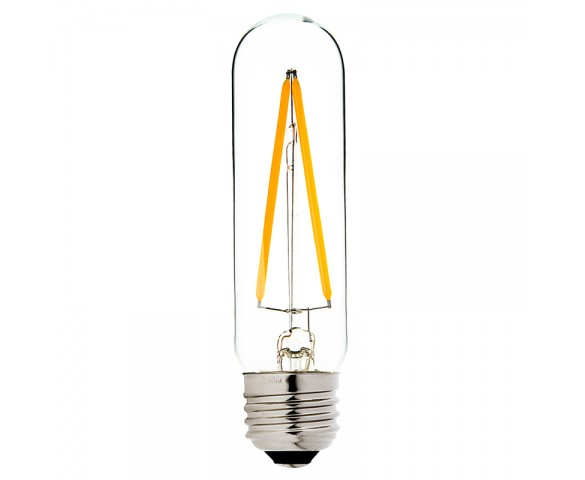 LED Vintage Light Bulb - Radio Style T10 LED Bulb w/ Filament LED - Dimmable