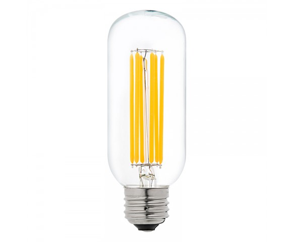 LED Vintage Light Bulb - Radio Style T14 LED Bulb w/ Filament LED - Dimmable