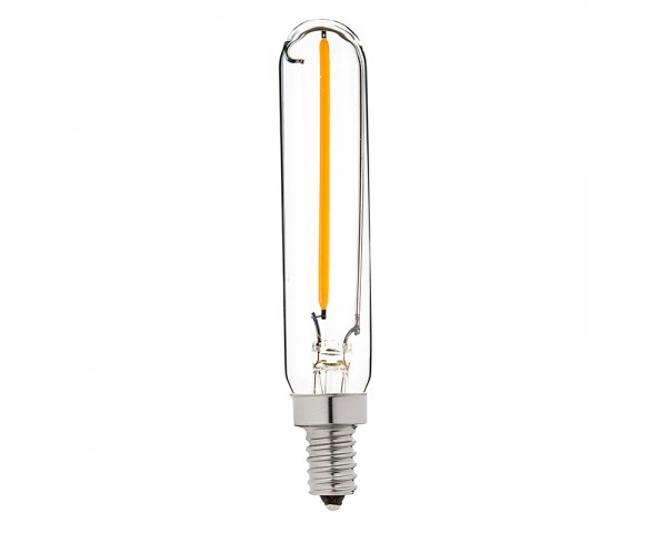 LED Vintage Light Bulb - Radio Style T6 Candelabra LED Bulb w/ Filament LED - Dimmable
